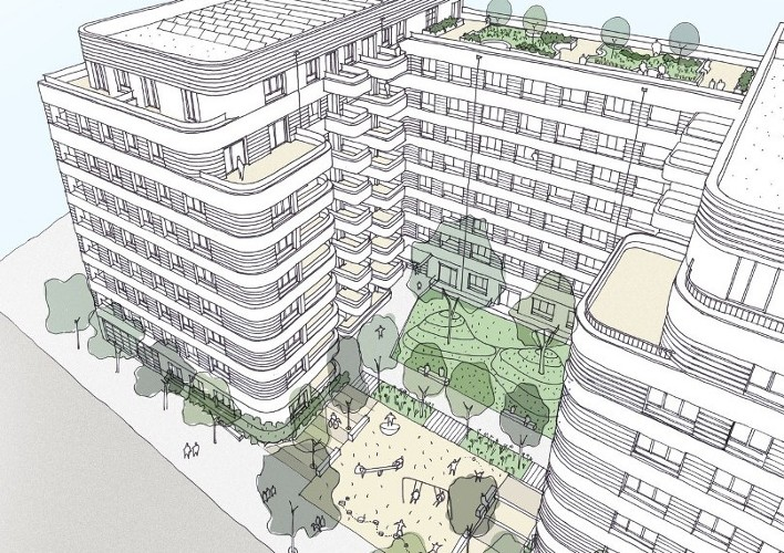 Stanta secure phase 2 at the Guinness Partnership in Bromley by Bow